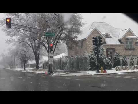 First snow at 2016 in Chicago