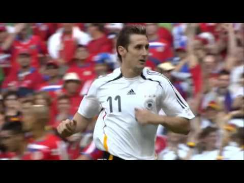 Miroslav Klose's 16 World Cup Goals - World Record