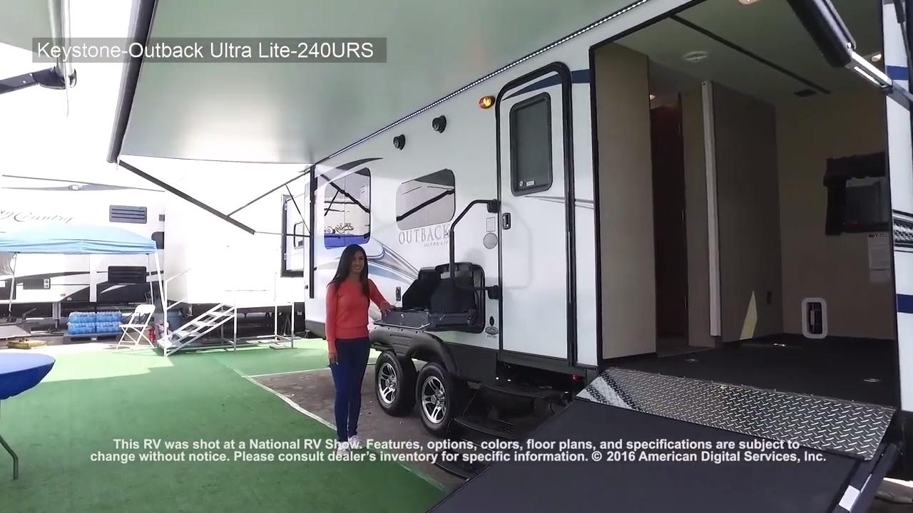 2017 Keystone-Outback Ultra-Lite-240URS - YouTube