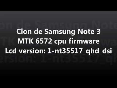 Firmware Samsung Galaxy Note 3 Clon MTK 6572