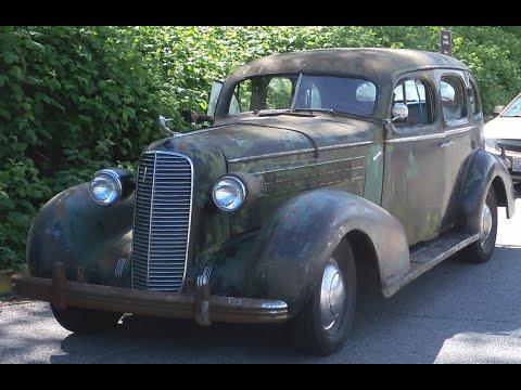 Derelict 1936 Cadillac Flathead V8 Abandoned 54 Years as Yard Art