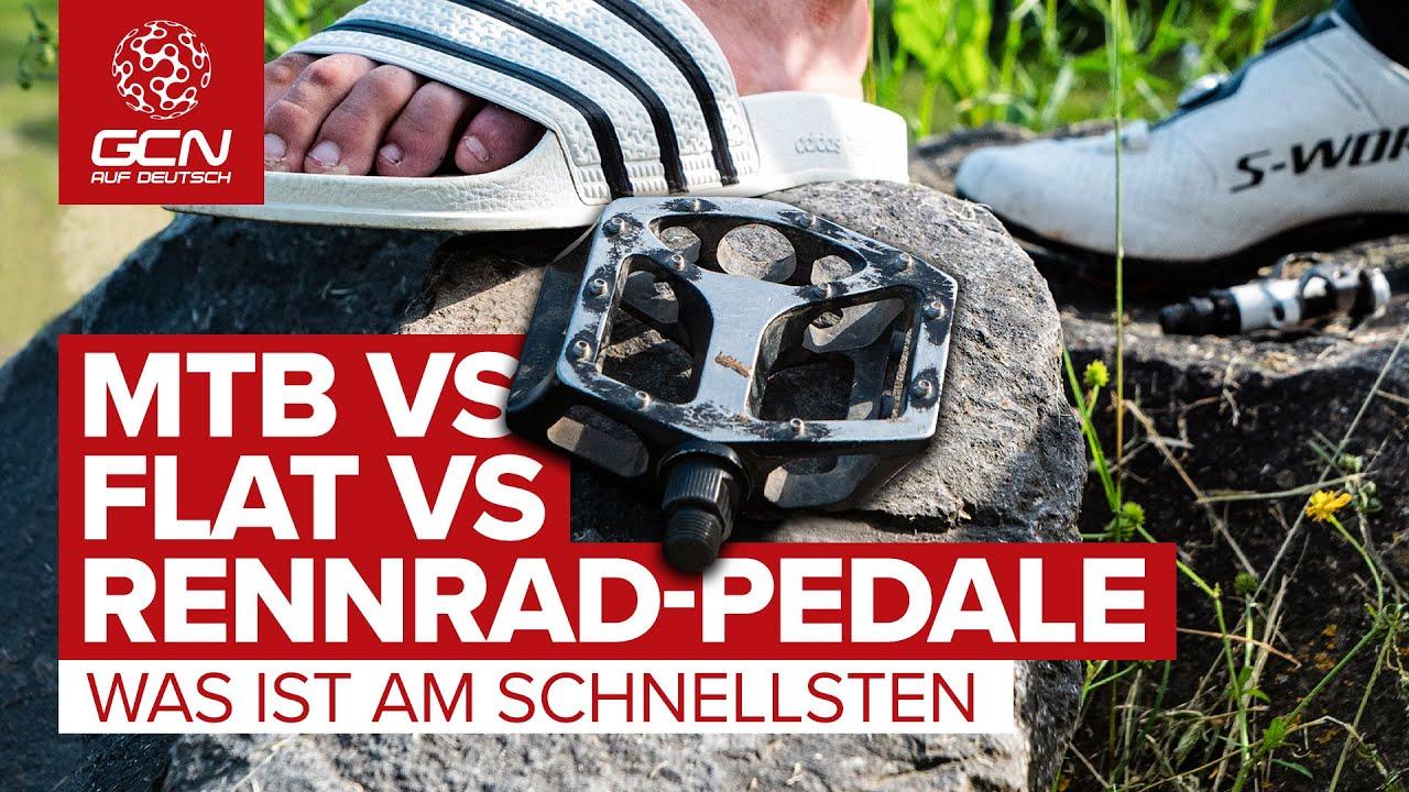 MTB-Pedale vs. Flat-Pedale vs. Rennrad-Pedale -  was ist am schnellsten? | Pedale im Vergleichstest