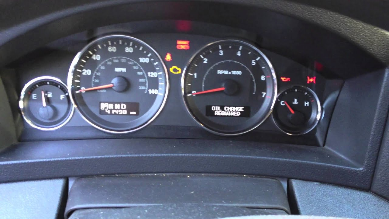 How To Jeep Grand Cherokee Oil Change Interval Reset