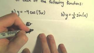 Graphing Sine and Cosine With Different Coefficients (Amplitude and Period), Ex 1