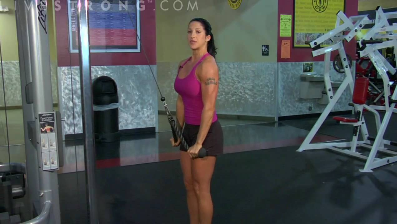 how to do triceps rope pulldowns youtube