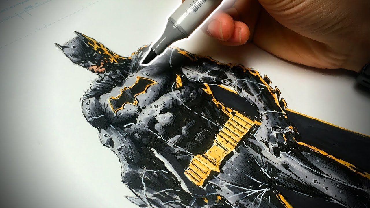 How to Draw Batman (Comic Book Style) Step by Step ...