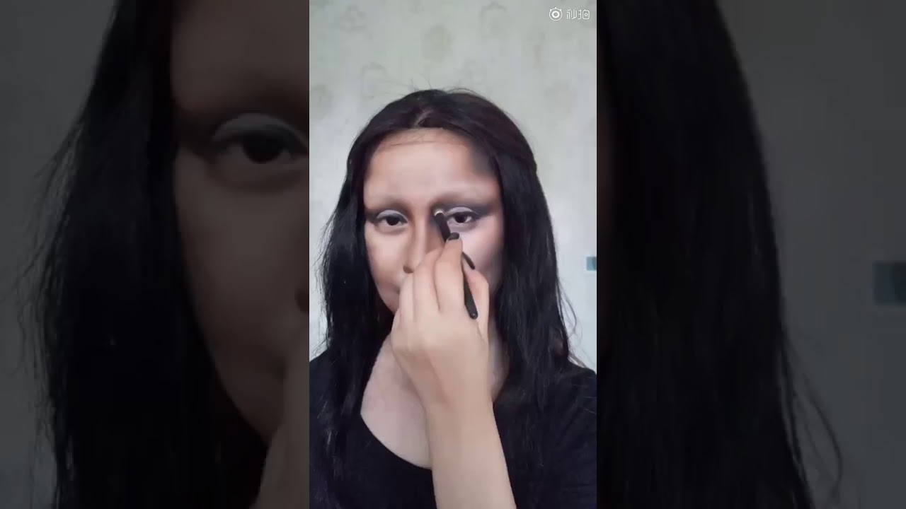 Блогерка од Кина се претвори во Мона Лиза со помош на шминка