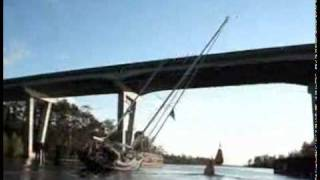 How to Get An 85 Ft Mast Under A 65 Ft Bridge