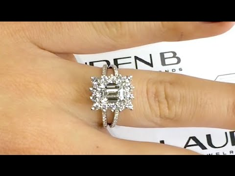 1 70 Ct Emerald Cut Diamond Engagement Ring In A Princess Diana