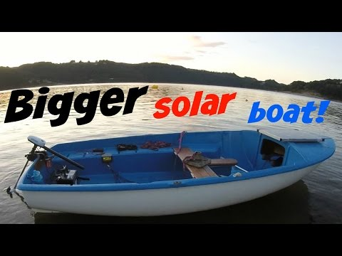 Solar electric boat Mk.2!  Bigger & better, awesome lake cruises