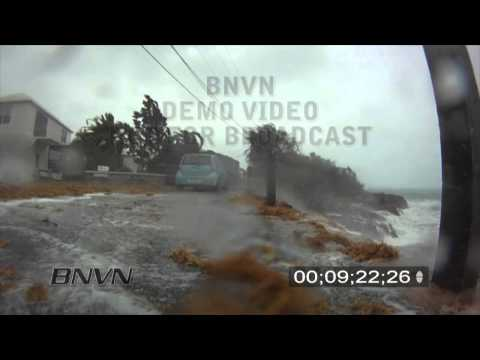 9/19/2010, Hurricane Igor hits Saint Georges Bermuda - Stock Video.
