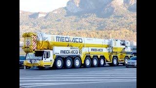 Liebherr LTM1750-9.1 MEDIACO on the road (13 minutes)