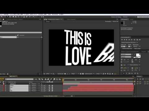 After Effects Basic Typography / tipografia basica tutorial