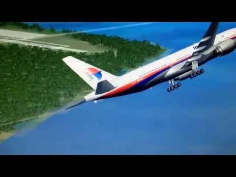 MH-370 nearing to Diego Garcia..... FSX Simulation....