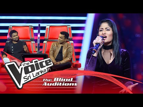 Roshel Samarasinghe - Nadee Ganga Tharanaye (නදී ගංගා) | Blind Auditions | The Voice Sri Lanka