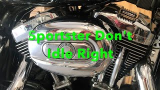 How To Fix, Harley Davidson Sportster That Don't Idle