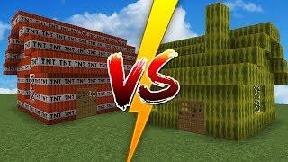 MAISON MELON VS MAISON TNT - Minecraft DÉFI
