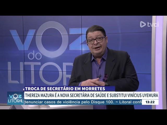 TROCA DE SECRETÁRIO EM MORRETES