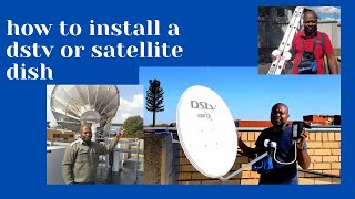 how to install a dstv or  satellite dish with motivation? south African you tuber. screenshot 3