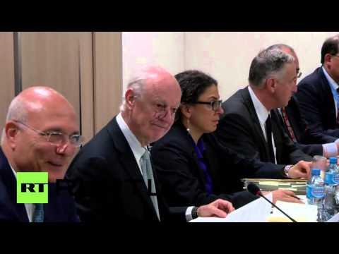 Switzerland: HNC meets de Mistura for third round of intra-Syrian talks in Geneva