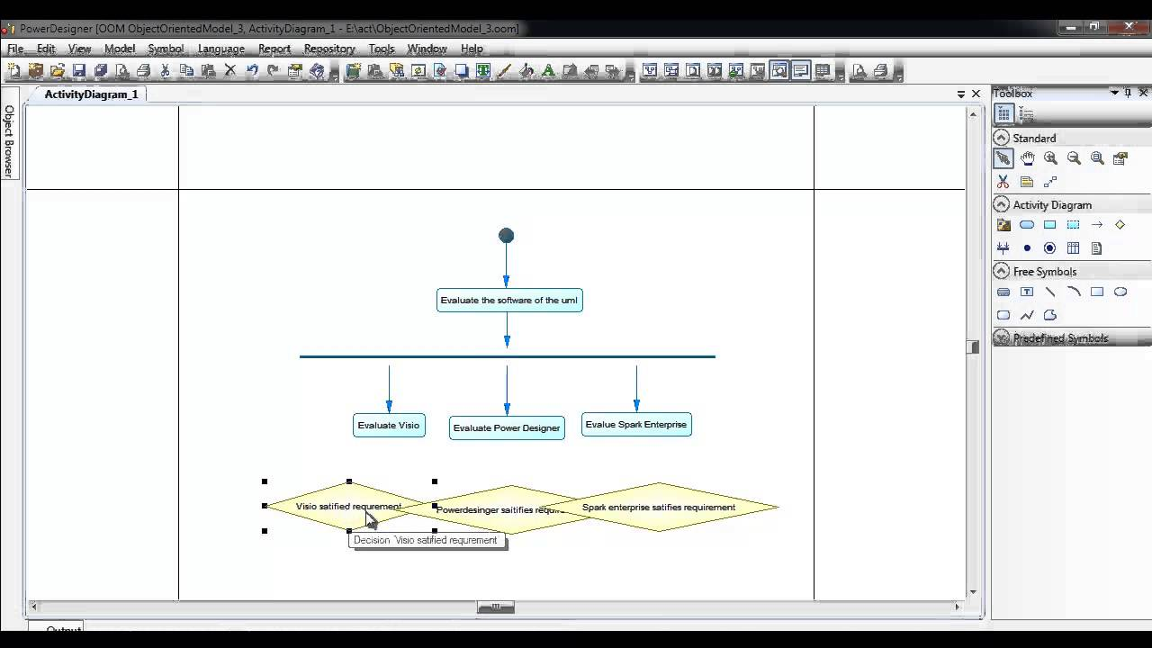 Activity diagram using power designer youtube activity diagram using power designer ccuart Gallery