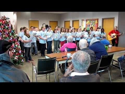 Always There ~ Adult Day Program ~ Kingston Catholic School Students sing on 12-13-12! Video 4