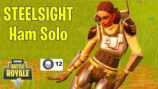 STEELSIGHT - Ham Solo - FREE VBUCKS!? - Fortnite Battle Royale Solo