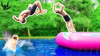 TEACHING MY BROTHER TO BACKFLIP!!