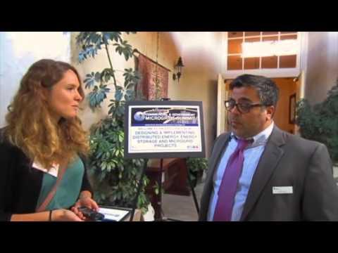 Energiereporterin Anna Schönbein  auf der Microgrids Konferenz  San Diego