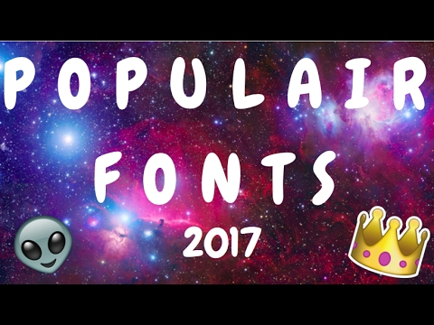 Populair Fonts 2017 , And How To Download // IOS Editing