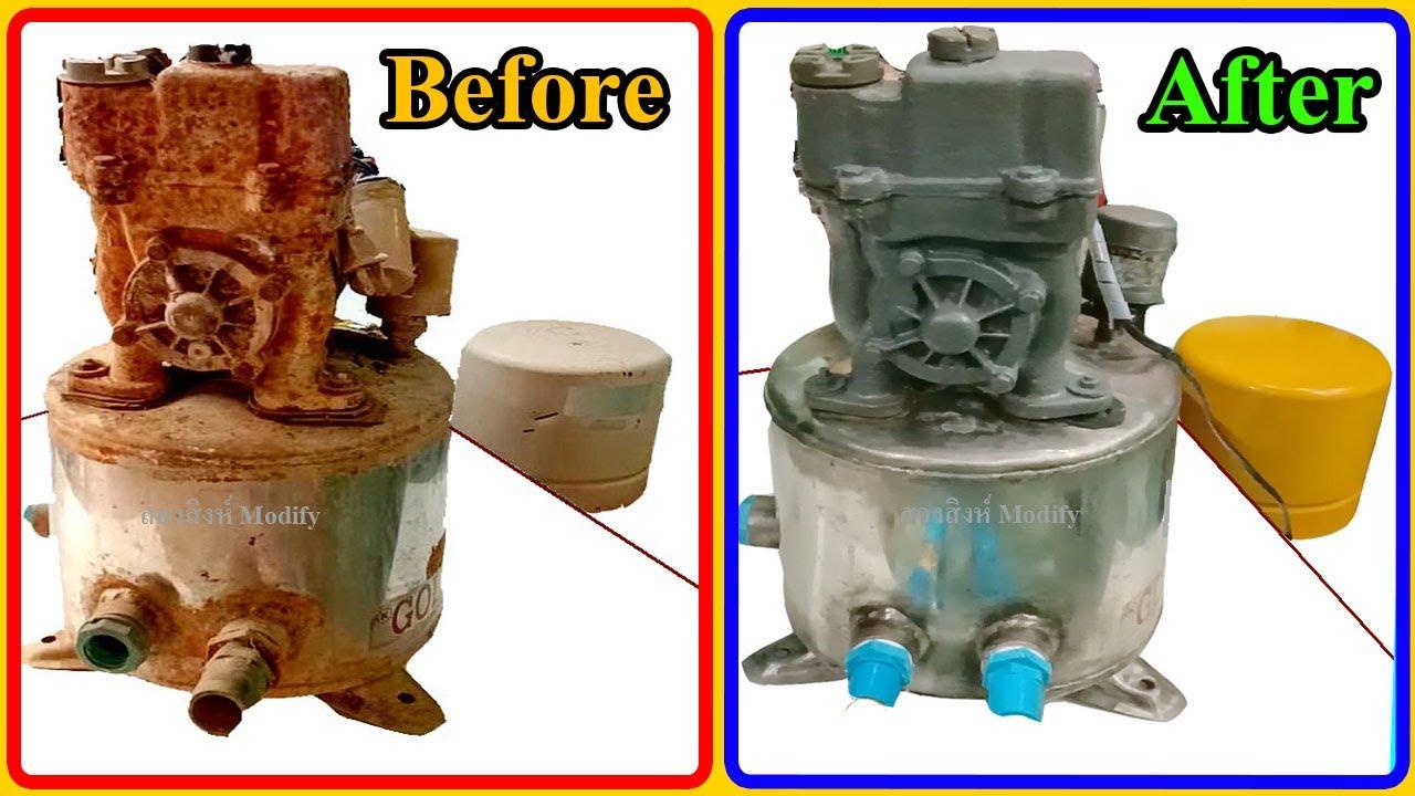 ฟื้นฟูปั๊มน้ำเก่า 40ปี ยี่ห้อ Goldstar (Restoring a 40 year old water pump Goldstar)