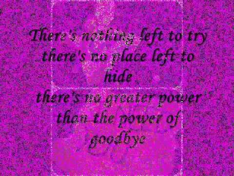 The Power Of Good-Bye lyrics - Madonna - Genius Lyrics