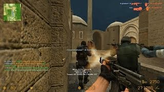 Counter Strike Source Zombie Riot mod online gameplay on Dust 2 map