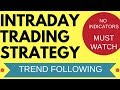 Intraday Trading Strategy Using Trend Following