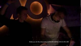 Edrass & Davinszky @ Club Díva 2012 /Chris Lawyer - Right On Time (Original mix)/