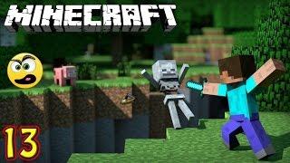 Minecraft Parte 13 - Criei um Portal para o Nether e olha no que deu