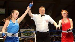 Martyna Turowska (Gwardia Szczytno - Ró¿a Asanowicz (Boxing Team Sokó³ka)