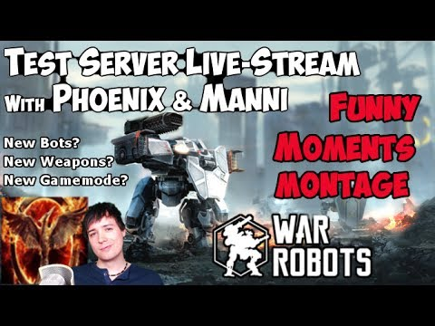 War Robots Funny Moments - Phoenix & Manni Live-Stream Montage