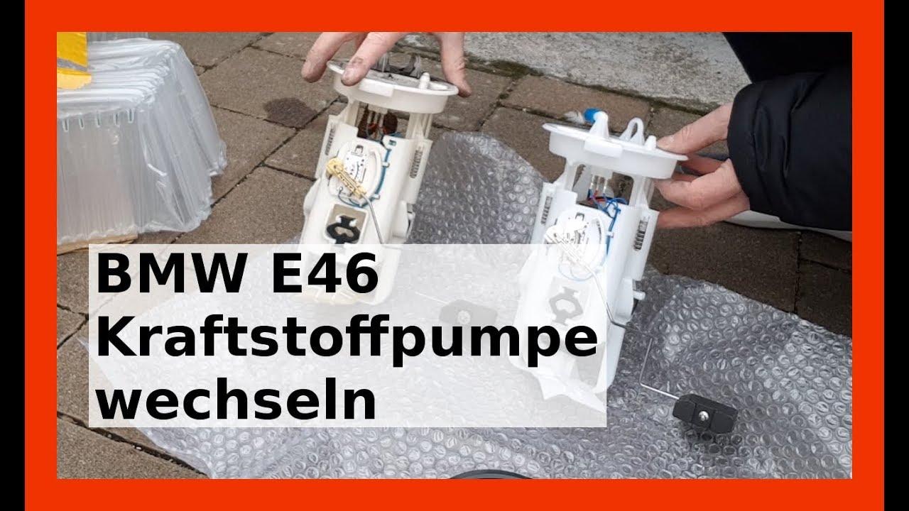 benzinpumpe wechseln in bmw e46 3er neue kraftstoffpumpe. Black Bedroom Furniture Sets. Home Design Ideas