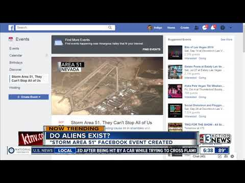 Barbara Ann - Alien Hunters Have Pledged on Facebook to Raid Area 51 in Search of ET