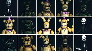FNaF SFM: Golden Ones - Characters Appearance Timeline (Series Backstage Animation) thumbnail