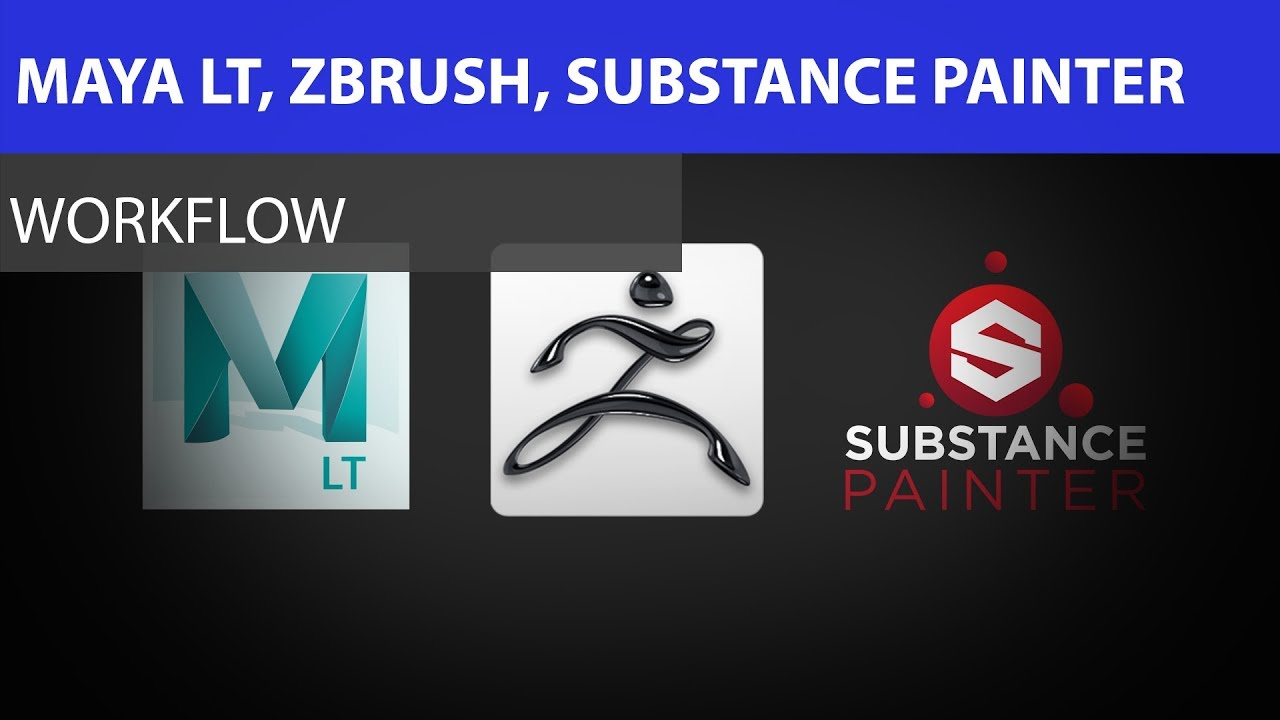 Maya LT to Zbrush to Substance Painter Workflow