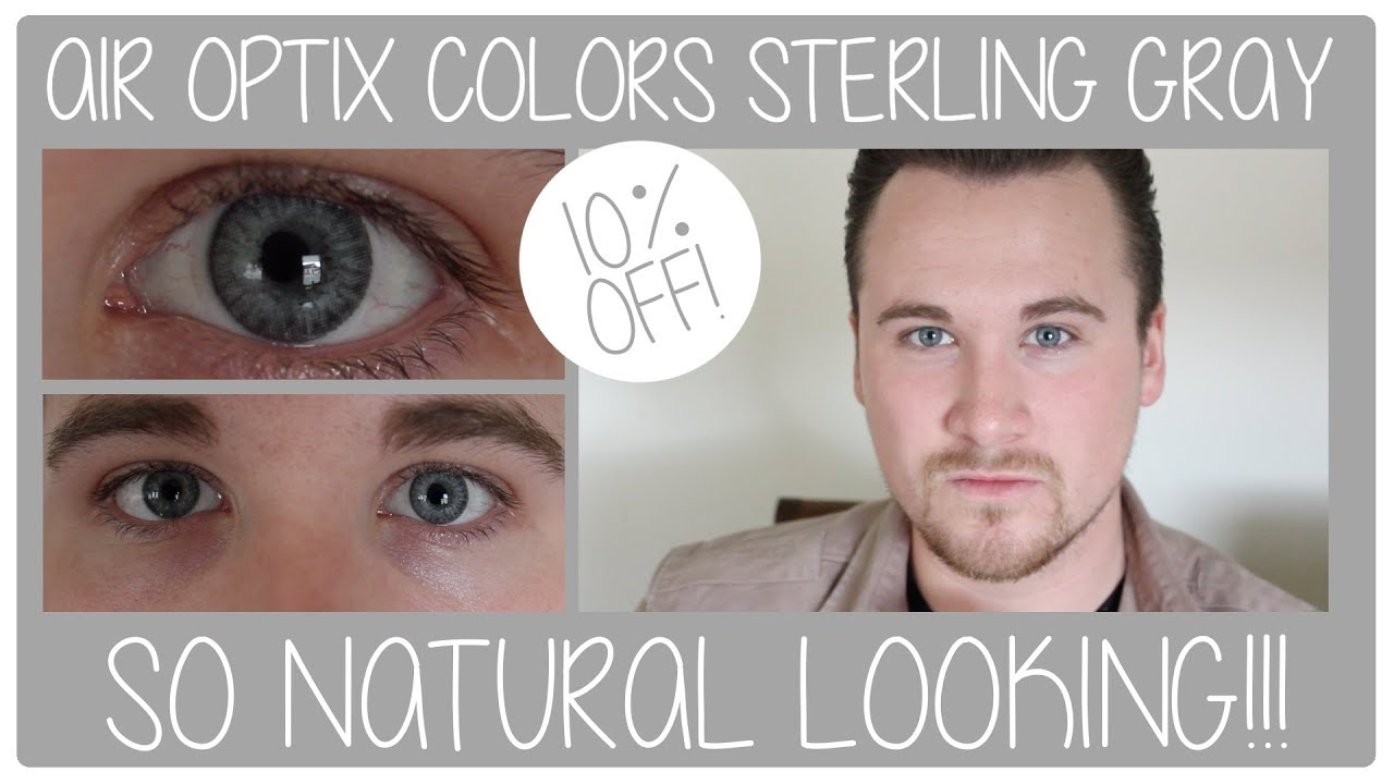 f116032fadf69 Air Optix Colors Contact Lenses  Sterling Gray Review - YouTube
