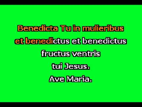 Ave Maria (G+) by F. Schubert Karaoke Accompaniment
