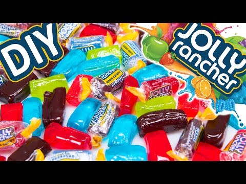 How to make JOLLY RANCHER Candy & Jolly Rancher LOLLIPOPS: DIY Jolly Ranchers Recipes