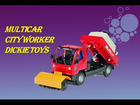 Multicar City Worker Dickie Toys. Уличная уборочная машина