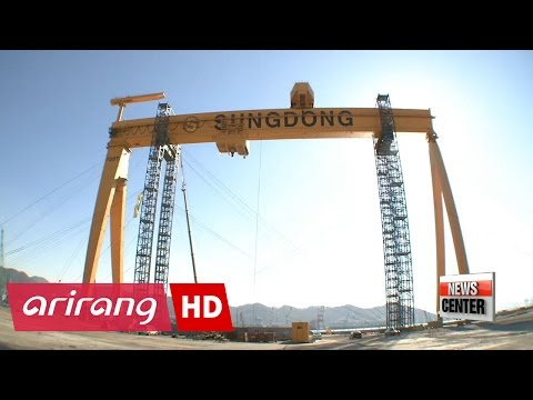 Korea to ship off giant crane, as shipbuilders continue restructuring efforts