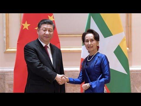 President Xi meets Myanmar State Counselor Aung San Suu Kyi