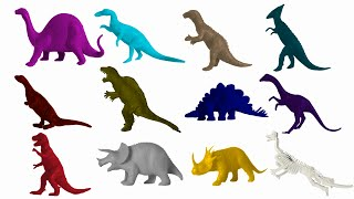 Dinosaur Colors 2 - The Kids' Picture Show (Fun & Educational Learning Video)