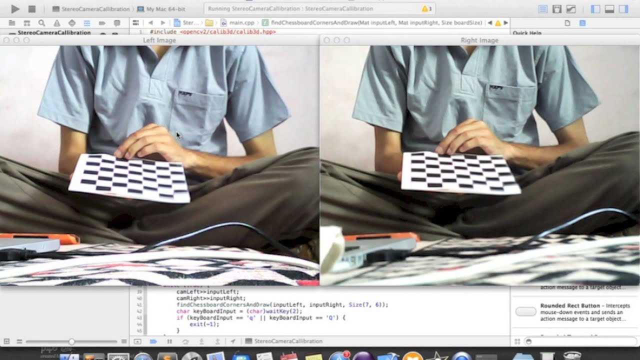 Stereo Camera Calibration by Detecting Chessboard Corners (Project SAHE)